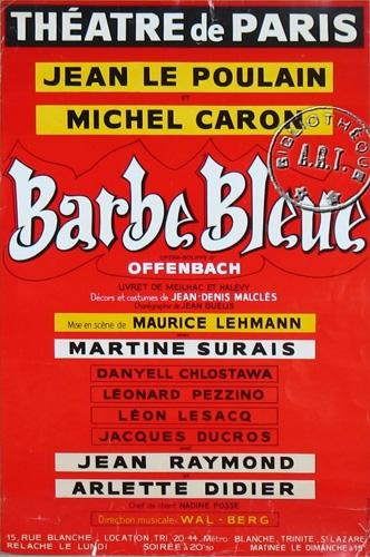 michel caron,barbe bleu,théâtre de paris