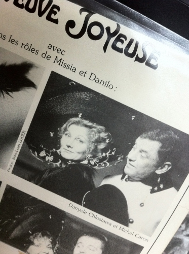 michel caron,la veuve joyeuse